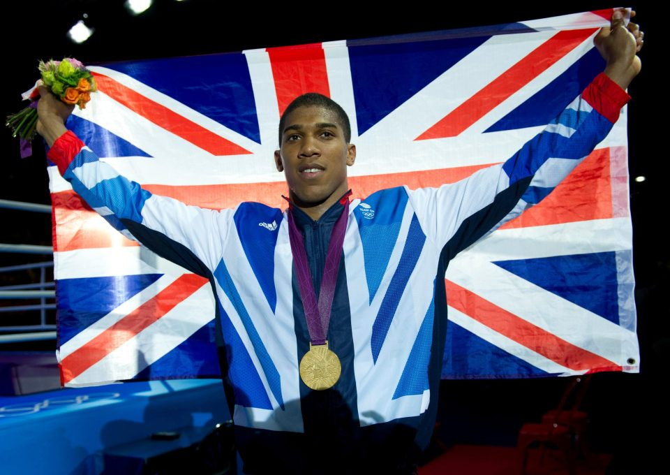 AJ won gold for Britain in 2012