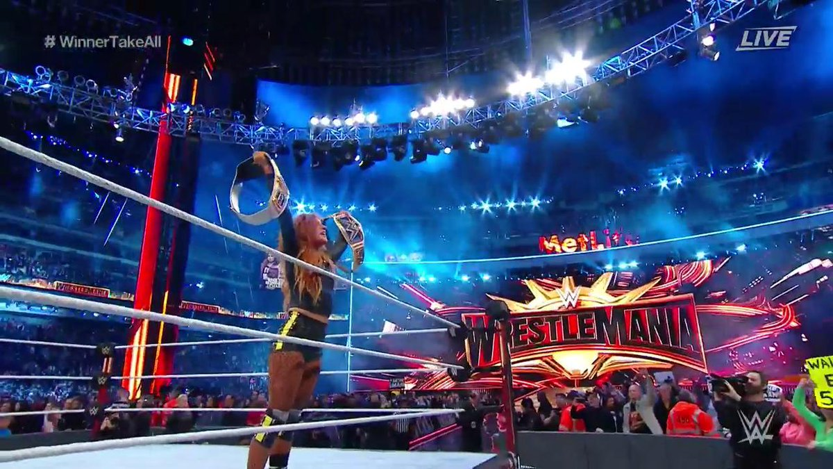 Becky Lynch Defeats Ronda Rousey to Win First-Ever Women's Main Event at WWE's WrestleMania 35