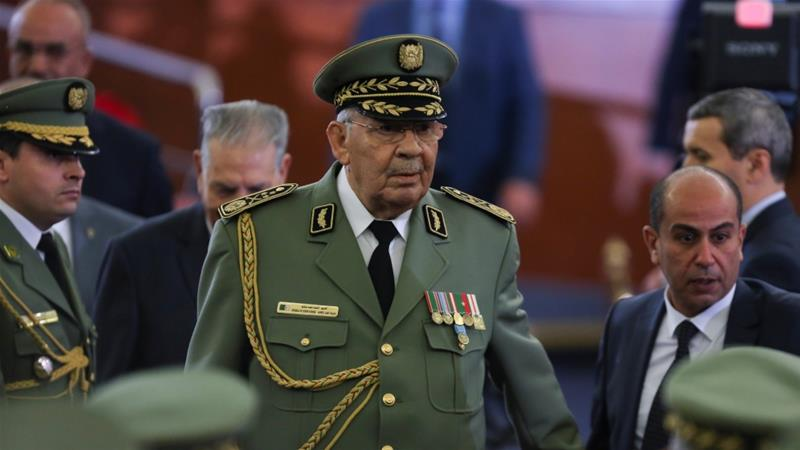 Gaid Salah had attended newly elected President Tebboune's swearing-in ceremony in Algiers last week [File: Ramzi Boudina/Reuters]
